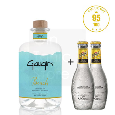 GauGin Beach 46% 50cl + 2 Schweppes Premium