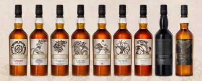 The Game of Thrones Single Malt Scotch Whisky Collection 9x70cl