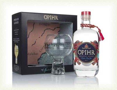 Opihr Oriental Spiced Gin 43% 70cl Balloon Glass Giftpack