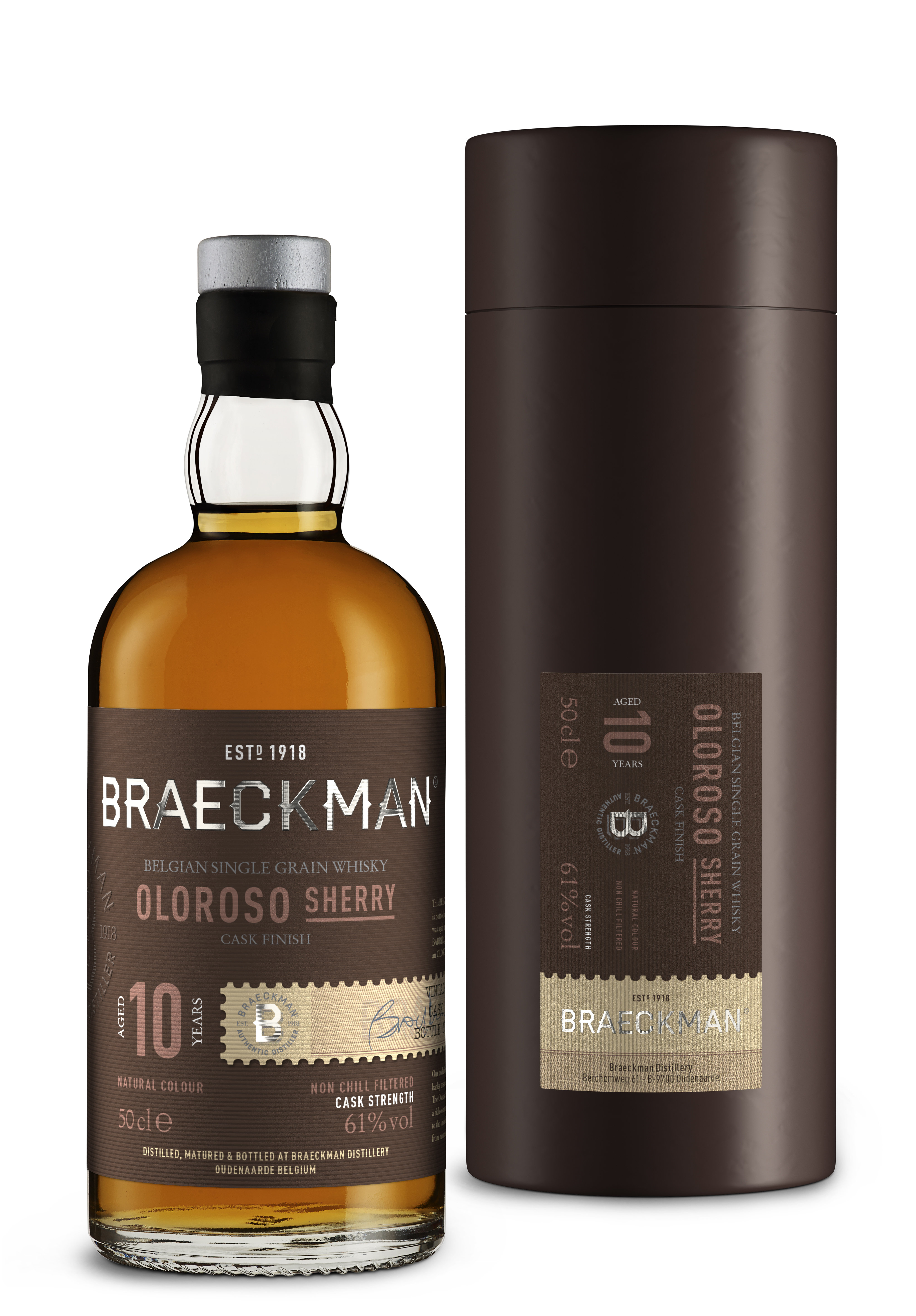Braeckman 10 Years Single Grain Whisky 60,5% 50cl