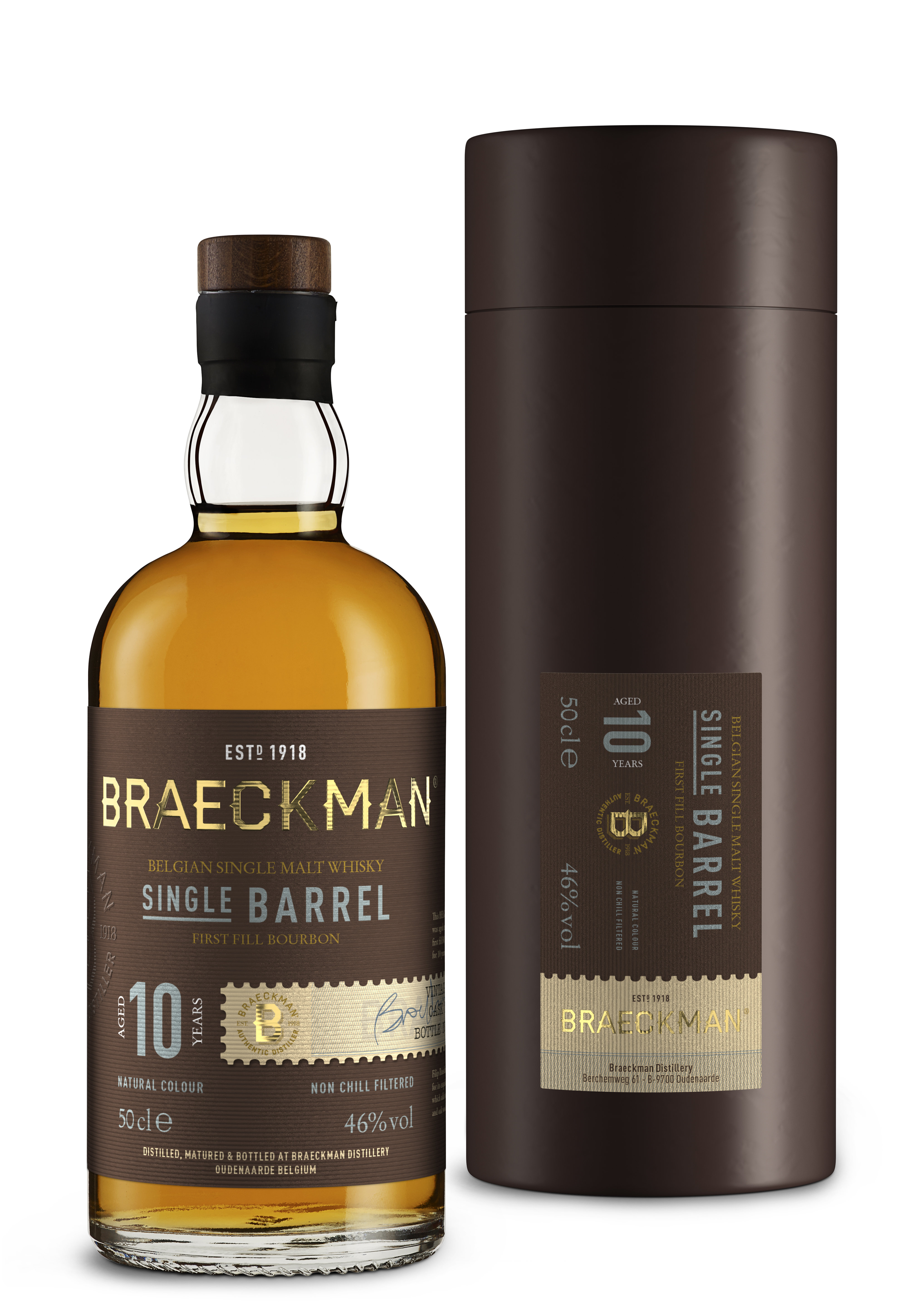 Braeckman 10 Years Single Malt Single Barrel Whisky 46% 50cl