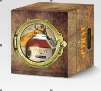 Pyrat Rum XO Reserve 40% 70cl Porthole Wooden Gift Box