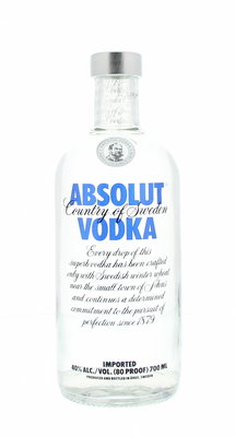 Absolut Blue Vodka 40% 70cl