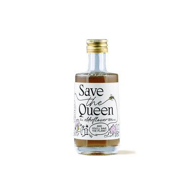 Save The Queen Gin-Based Elderflower 18% Mini 5cl