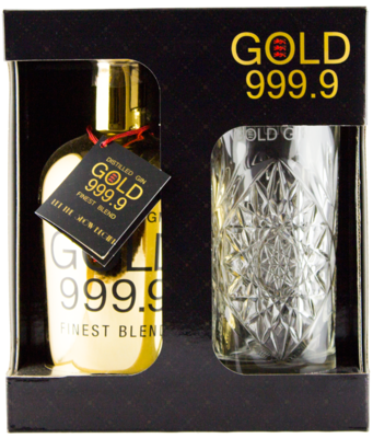 Gold 999.9 Gin 40% 70cl + glas Giftpack