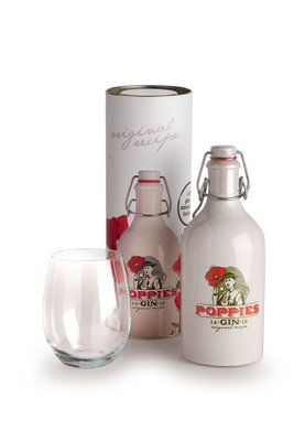Poppies Gin 40% 50cl Koker Giftbox