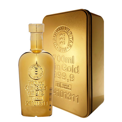 Gold 999.9 Gin 40% 70cl Gold Bullion Giftbox