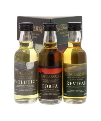 Glenglassaugh Whisky 48,7% Mini Giftpack 3x5cl