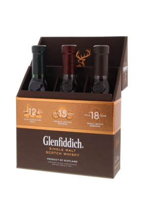 Glenfiddich Discovery Pack Whisky 40% 3x20cl Giftbox