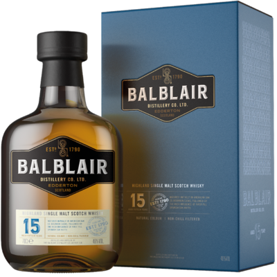 Balblair 15 Years Single Malt Whisky 46% 70cl