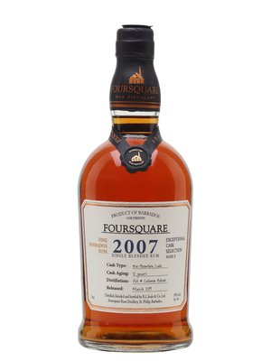 Foursquare 2007 12 Years Single Blended Rum 59% 70cl