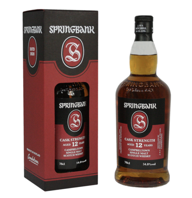 Springbank 12 Year Old Cask Strength 2020 Whisky 55.3% 70cl