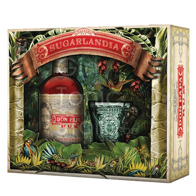 Don Papa Rum 7 Years 40% 70cl Glass Giftpack