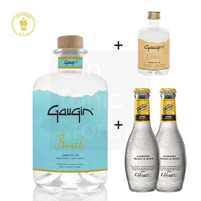 GauGin Beach 46% 50cl + Mini + 2 Schweppes Premium