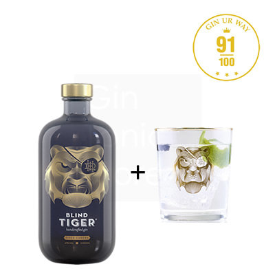 Blind Tiger Piper Cubeba Gin 47% 50cl + gratis glas