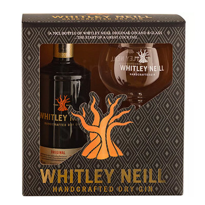Whitley Neill Gin 43% 70cl Glass Giftpack