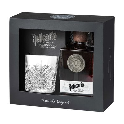 Relicario Supremo Rum 40% 70cl Glass Giftpack