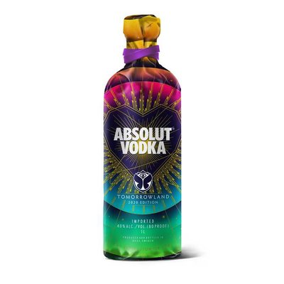Absolut Blue Vodka Tomorrowland 2020 Edition 40% 70cl