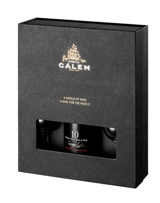 Calem 10 Years Old Tawny Port 70cl Giftpack met 2 glazen