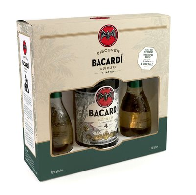 Bacardi Rum 4 Years 70cl Giftbox