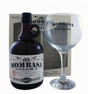 Mombasa Club Gin 70cl + glas Giftpack