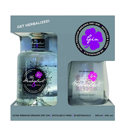 The Herbalist Gin 50cl + glas Giftpack