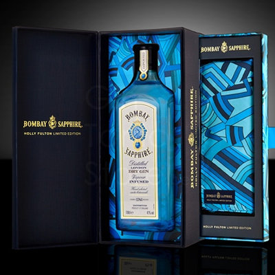 Bombay Sapphire Dry Gin 100cl Holly Fulton Limited Edition Giftpack
