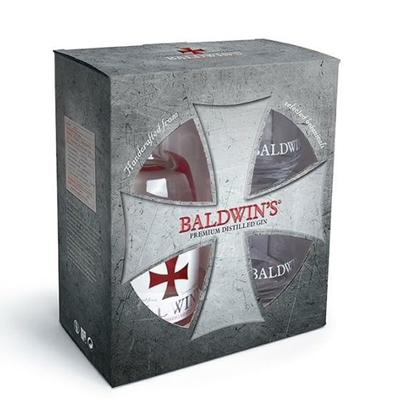 Baldwin's Gin 46% 50cl Giftpack
