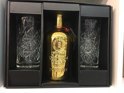 Giftpack Gold 999.9 Gin 70cl + 2 glazen