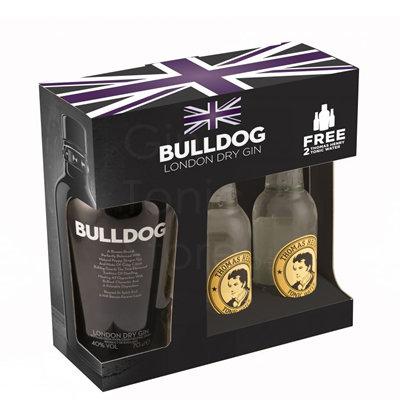 Bulldog Gin 70cl Giftpack + 2 Thomas Henry Tonic