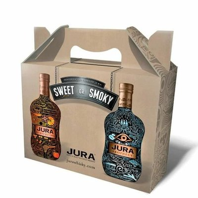 Isle of Jura Sweet or Smokey Whisky 4x20cl Giftpack