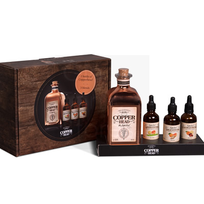 Copperhead Gin 50cl Blend Box