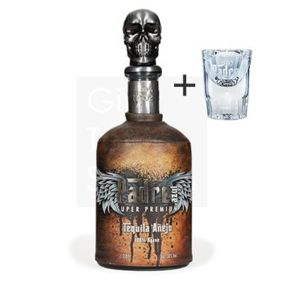 Padre Azul Anejo Tequila 70cl + gratis glas