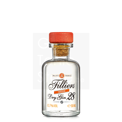 Filliers Tangerine Dry Gin 28 Mini 5cl
