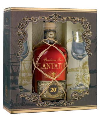 Plantation Barbados XO Rum 20 Years 40% 70cl Giftpack