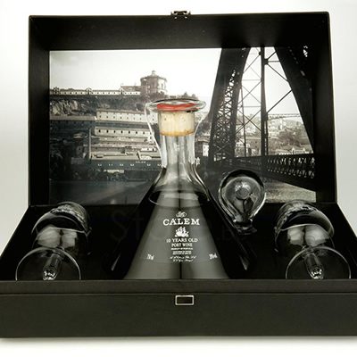 Calem 10 Years Port Decanter + 2 glazen Giftpack