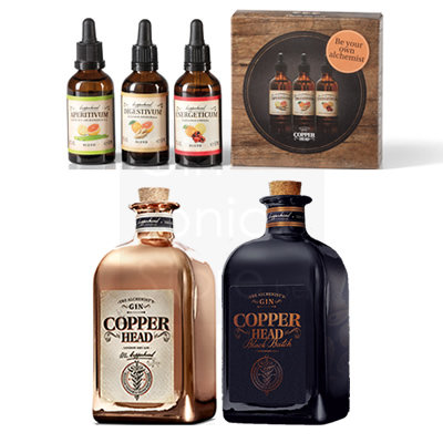 Copperhead Gin 2x50cl + gratis Blends Pack 1