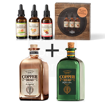 Copperhead Gin 2x50cl + gratis Blends Pack 2
