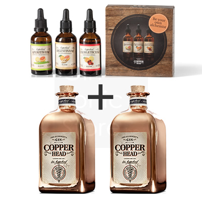 Copperhead Gin 2x50cl + gratis Blends Pack 3