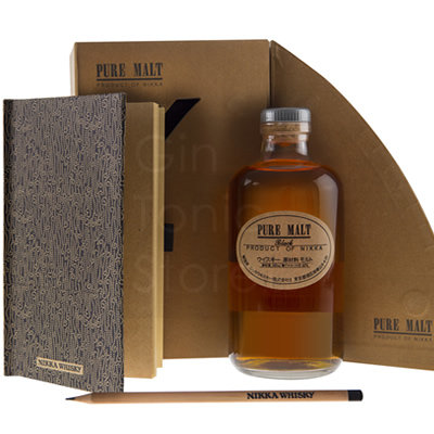 Nikka Pure Malt Black 50cl Gift Box With Notebook