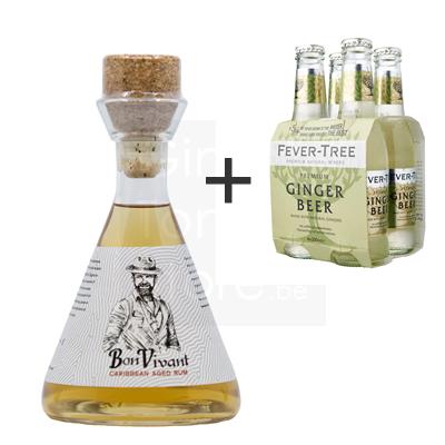 Bon Vivant Rum 50cl + 4-pack Fever-Tree Ginger Beer