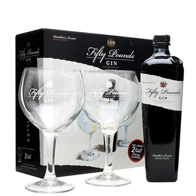 Fifty Pounds Gin 70cl Giftpack