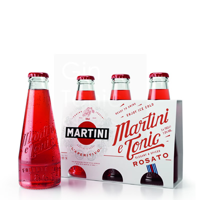 Martini & Tonic Rosato Ready To Drink 3x15cl