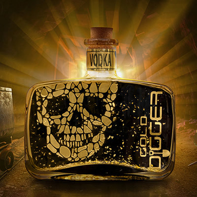 Gold Digger Vodka 50cl