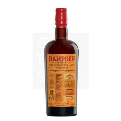 Hampden Estate Pure Single Jamaican Overproof Rum 60% 70cl