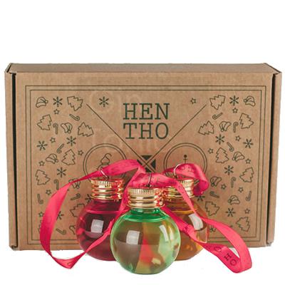HenTho Gin Kerstballen 6x5cl Giftpack