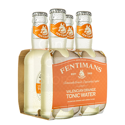 Fentimans Valencian Orange Tonic Water 4x200ml