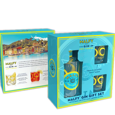 Malfy Gin Con Limone 70cl Glass Giftpack