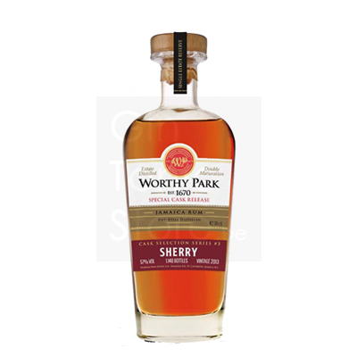 Worthy Park 2013 5 Years Sherry Finish 3 Rum 70cl 57°