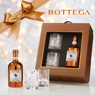 Bottega Bacur Dry Gin 50cl  Giftpack